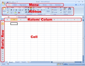 Area Kerja Excel 2007